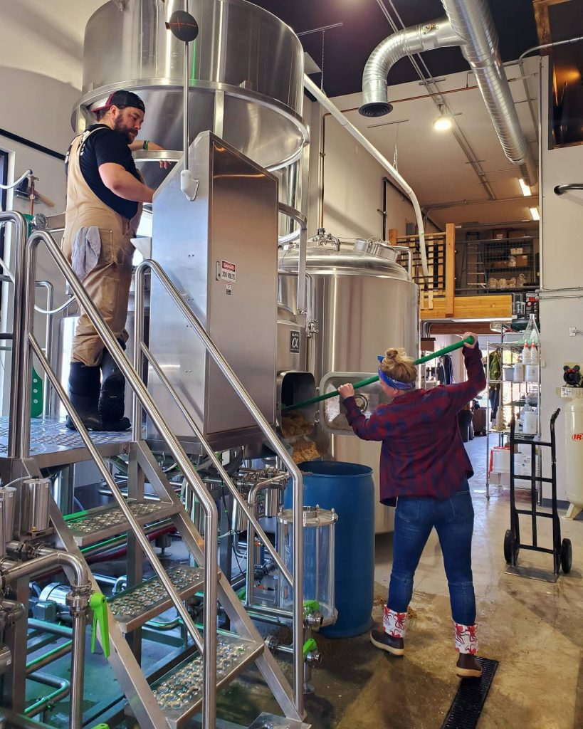 Danny brews beer, Chelsea gets spent grain! She loves helping hubs, they are a great…