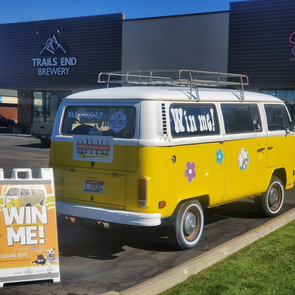 Kootenai Humane Society is selling raffle tickets to win this fun ride! Parked here …